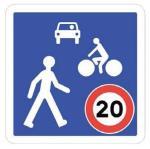 balisage zone vélo voiture piéton