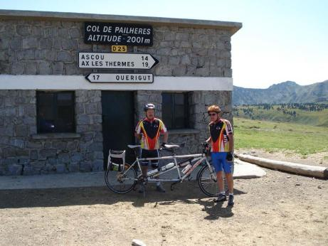 Daniel et Jean-Marc au col de Pailhères (2001 m)
